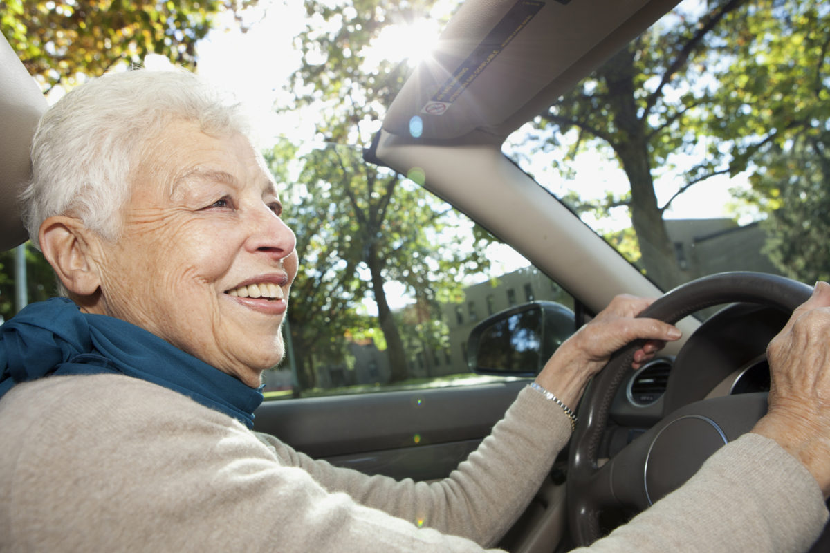 elderly driving image