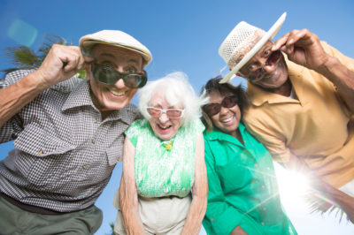 Elderly People Having Fun together